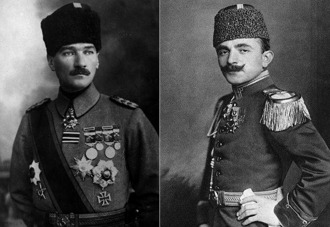 Mustafa Kemal Atatürk ve Enver Paşa (İsmail Pehlivan)