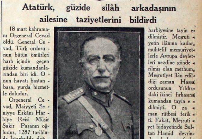 Orgeneral Cevat Çobanlı Paşanın Vefatı Ve Cenaze Merasimi (Ahmet Yurttakal)
